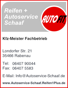 Reifen + Autoservice Schaaf, besuchen Sie uns...